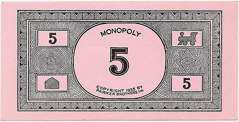 monopoly money templates - a very nice 1935 monopoly game single patent 1 509 312