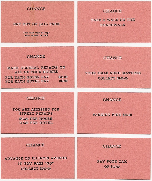 image about Monopoly Chance Cards Printable named A Pretty Great 1935 MONOPOLY Sport, One PATENT 1,509,312