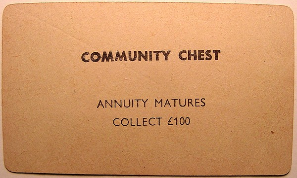 Great britain monopoly game pre patent label community chest cards bookmarktalkfo Choice Image