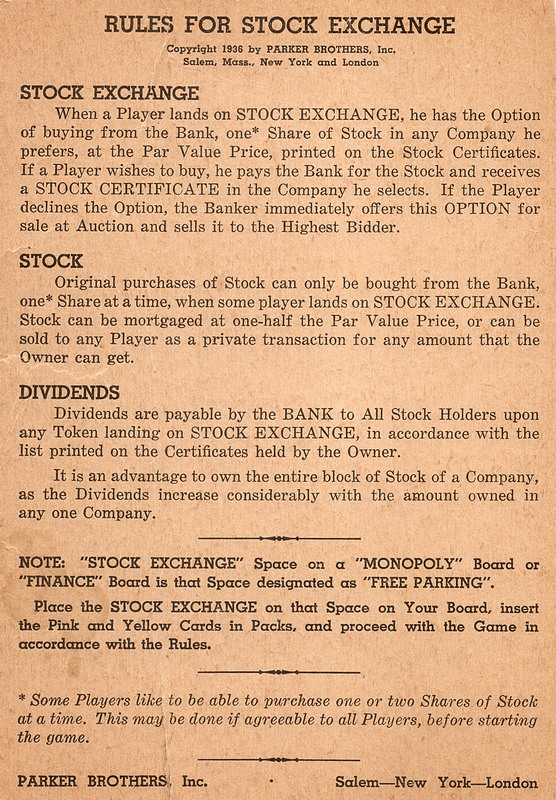 Stock Exchange Game Add On For Monopoly